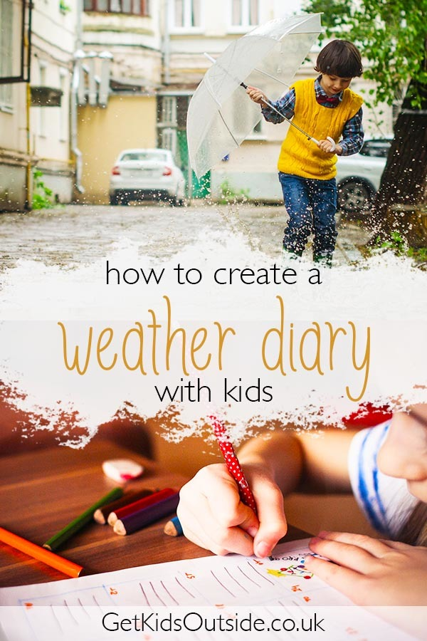 How to make a weather diary for kids. If your kids like to journal and you want to connect them to the seasons a weather diary is a great idea. Teaching kids about the weather is a fun activity for all ages using printables or just things you have around the house.