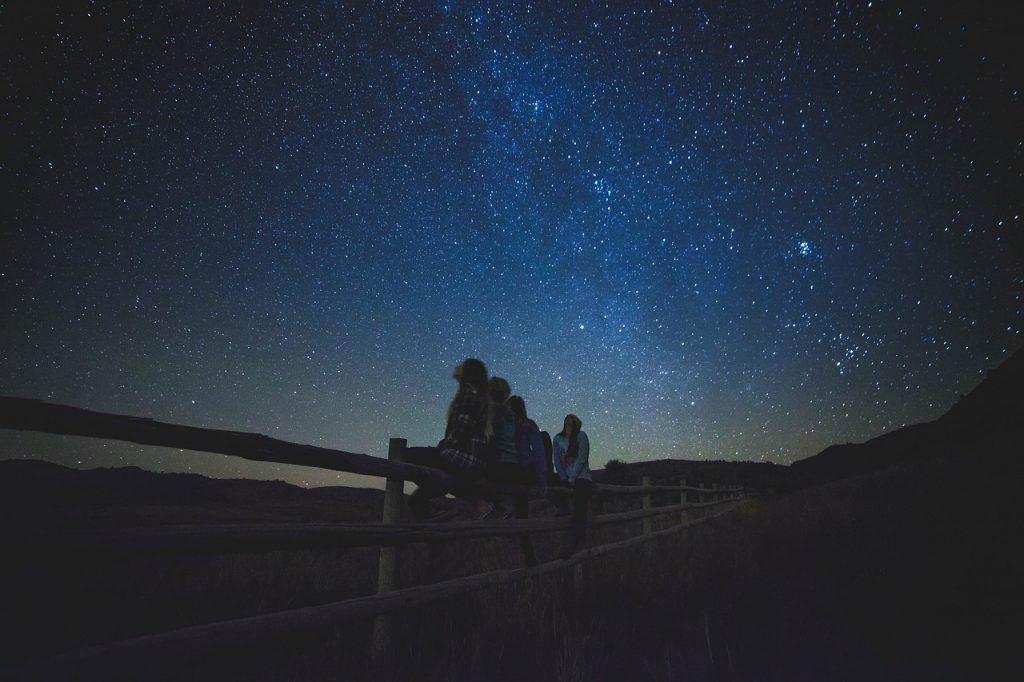stargazing with kids